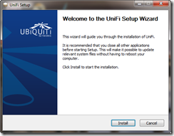 Welcome to the UniFi Setup Wizard
