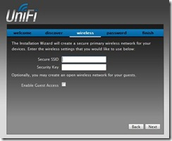 UniFi Controller Software Wireless Settings