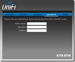 UniFi Controller Software Admin Name and Password