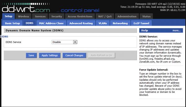 Setup – Dynamic Domain Name System