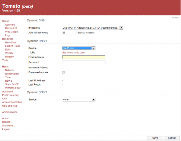 Basic - Dynamic DNS (DDNS), Service Details