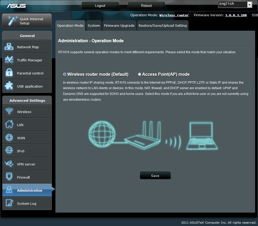 The Asus Rt N16 Router Firmware Part 6 Advanced