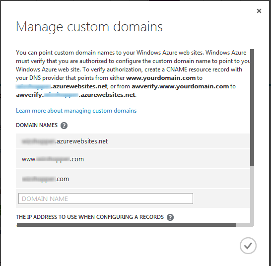 Manage Custom Domains